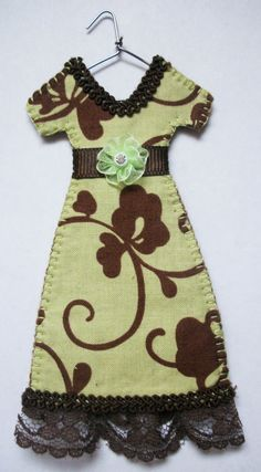Green and Lovely Miniature Dress by agapeboutique on Etsy, $9.95