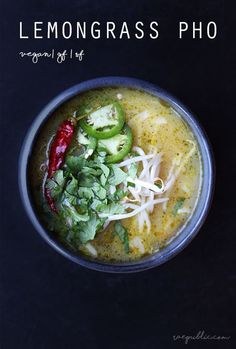 VEGAN Lemongrass PHO that is super delicious and packs just the right amount of flavor and spice.