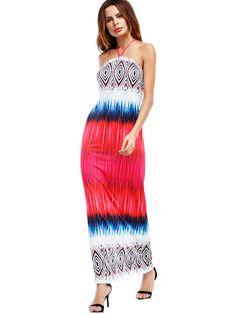 cc414567029c 2018 Bohemian Long Dress Women Summer Sexy Boho Tunic Printed Maxi Split  Dresses V-Neck Vintage Elegant Plus Size 3xl Vestidos