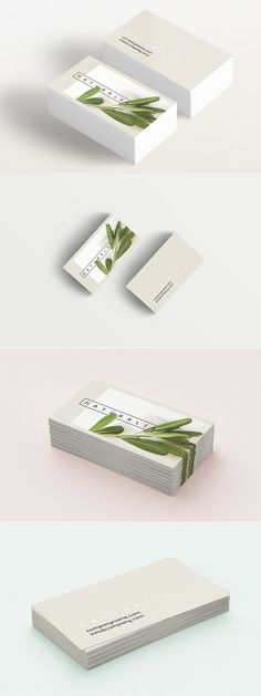 Natural Greens business card - Elegant business card template that will be perfect for anyone working in health care, massage therapy, cosmetics or spa industry