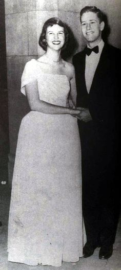 """Sylvia Plath with Richard """"Dick"""" Norton (the model for Buddy Willard) at the Yale Junior Prom in March 1951 (Lilly Library, Indiana University)"""