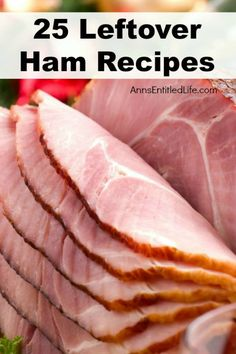 25 new and delicious ways to use up your leftover Easter or Christmas ham with these fabulous ham casseroles, soups, sandwiches and breakfast recipe ideas. If you have leftover ham, you will want to keep this list handy. These ham Pork Recipes, New Recipes, Cooking Recipes, Favorite Recipes, Recipes Using Ham, Recipies, Holiday Ham, Christmas Ham, Christmas Recipes