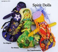Tutorial, Pattern - Magick New Moon Spirit Dolls by Silver RavenWolf