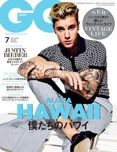 GQ JAPAN 2016年7月号表紙 ジャスティン・ビーバー / GQ JAPAN #ハワイ #ジャスティンビーバー #ALOHA