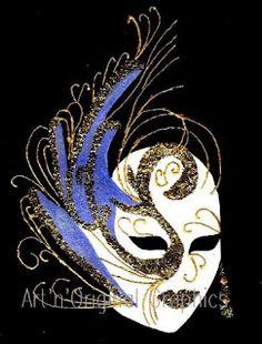 Masque vénitien: Le #Cygne Bleu