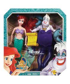Another great find on #zulily! The Little Mermaid Ariel & Ursula Doll Set #zulilyfinds