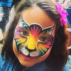 Face painting Kitty Cat by Athena Zhe