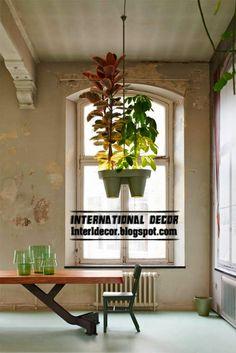 Luminária de mesa criativo com cestas de suspensão