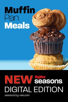 Experience all-new Hy-Vee Seasons online. Use a muffin pan to make full meals, including entrées, side dishes, and desserts. Full Meals, No Cook Meals, Easy Meals, Muffin Pan Recipes, Homemade Breakfast, Edible Food, New Recipes, Side Dishes, Brunch