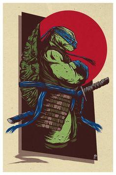 Ninja Turtles Art, Teenage Mutant Ninja Turtles, Comic Books Art, Comic Art, Ninja Turtle Tattoos, Samurai, Turtles Forever, Cartoon Turtle, Childhood Characters