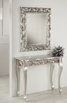 Dalia, Ornate Console Table with a Matching Optional Mirror by Debora Carlucci