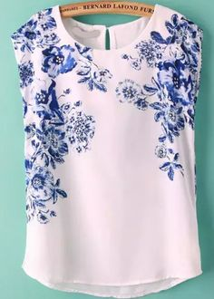 Shop Flower Print Chiffon Top at ROMWE, discover more fashion styles online. Spring Summer Fashion, Spring Outfits, Chiffon Tops, Print Chiffon, Chiffon Blouses, Sleeveless Blouse, Fashion Wear, Fashion Outfits, African Traditional Dresses