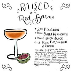 OSBP Signature Cocktail Recipe Card Raised in a Red Barn Shauna Panczyszyn Friday Happy Hour: Raised in a Red Barn
