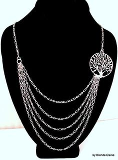 Asymmetrical Tree of Life Necklace by byBrendaElaine on Etsy, $34.00