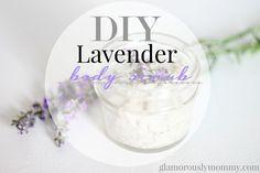 simple DIY Lavender Body Scrub