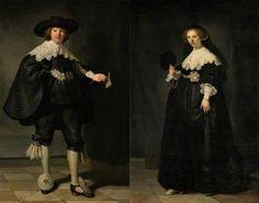 Rembrandt van Rijn (1606-1669), Portretten van Marten Soolmans en Oopjen Coppit, 1634. Olieverf op doek. Gezamenlijke aankoop van de Staat der Nederlanden en de Republiek Frankrijk, collectie Rijksmuseum/collectie Musée du Louvre, 2016
