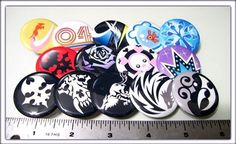 TWEWY The World Ends With You Buttons 5 pin back buttons by Xexus, $3.50