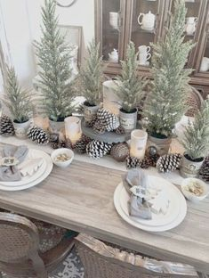 kitchen decorating rustic christmas table decorations xmas table with christmas table settings ideas Need ideas to decorate your room? Try this, 40 Amazing Christmas Table Settings Ideas Farmhouse Christmas Decor, Outdoor Christmas, Rustic Christmas, Christmas Home, Holiday Decor, Christmas Trees, Christmas Cactus, Christmas 2019, Christmas Vacation