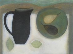 """Jug with Pears and Limes  by Vivienne Williams  18"""" x 24"""