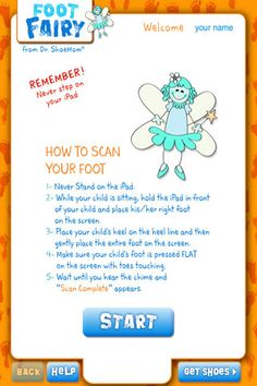 The Foot Fairy - 2011 - Measure your child's shoe size quickly and easily