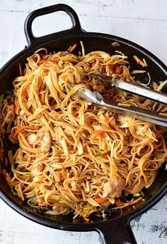For Chicken: 1 Cup Chicken,thigh meat,bite sized pieces As per need Salt 1 tsp Soy Sauce tsp Cornstarch 1 tsp Vegetable Oil Chicken Stir Fry With Noodles, Fried Noodles Recipe, Stir Fry Noodles, Chicken Noodle Recipes, Pasta Recipes, Cooking Recipes, Easy Chinese Recipes, Quick Recipes, Free Recipes