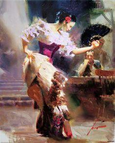 The Dancer  Pino Giuseppe Dangelico (1939-2010) - Italian painter.