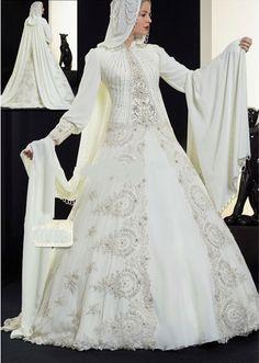 Discount Muslim Bridal Wedding Dress Muslim Hijab Wedding Dress Muslim Wedding Gown  From Trustful Online Seller Easebuydress