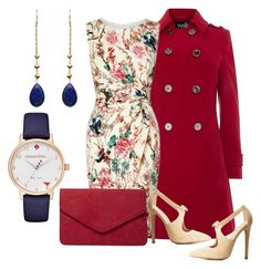 """""""Blue Blood Red Heart"""" by ares-and-aphrodite on Polyvore featuring Kate Spade, Wallis, Lipsy, Charlotte Russe, Dorothy Perkins and Gena Myint"""