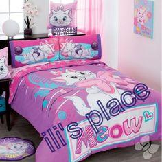 Twin, and Full Girls Disney Pretty Marie Comforter Set http://www.ebay.com/itm/290913080765?var=&ssPageName=STRK:MESELX:IT&_trksid=p3984.m1558.l2648