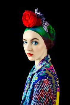 By Erik Madigan Heck, 2012. Fashion design by Mary Katrantzou: Florals.