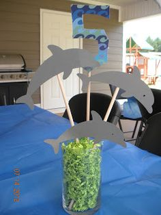 Dolphin Tale Party - could be a cute cupcake topper