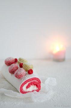 Coco e Baunilha: Coconut pink velvet cake roll