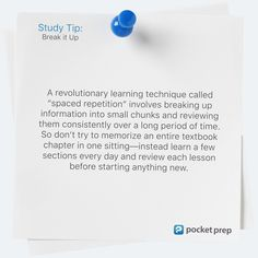 Exam Prep Apps for Standardized Testing and CertificationsPocket Prep Exam Study Tips, Spaced Repetition, Notebook Organization, Learning Techniques, Visual Aids, Write It Down, Test Prep, Textbook, Breakup