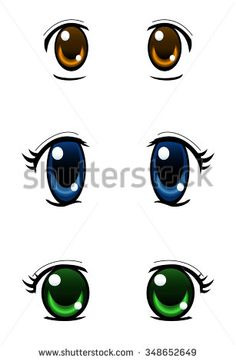 Set of anime style eyes isolated on white background, radial gradient used Pencil Shading Techniques, Care Bear Costumes, Plastic Bottle Planter, Doll Face Paint, Flower Pot People, Eye Stickers, Face Pictures, Hello Kitty Collection, Doll Sewing Patterns