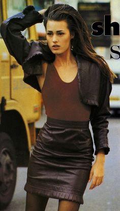 Yasmin Le bon in Alaia for  Vogue UK 1987