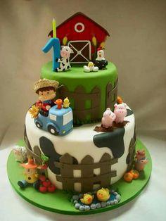 Baby animals farm birthday parties 58 Ideas for 2019 Farm Birthday Cakes, Animal Birthday Cakes, Farm Animal Birthday, Cowboy Birthday Party, Birthday Themes For Boys, Birthday Cake Girls, Boy Birthday Parties, Farm Themed Party, Barnyard Party