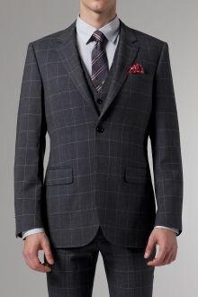 Premium Gray Prince of Wales Three-Piece Suit   Indochino