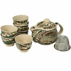 Asian Town Tea Set. Asian Food Grocer, Natural Cups, Small Tea Cups, House Guests, Loose Leaf Tea, Rustic Feel, Household Items, Asian Recipes, Earthy