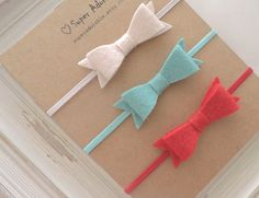 Felt Bow Headbands Tiny Bow Headbands $12