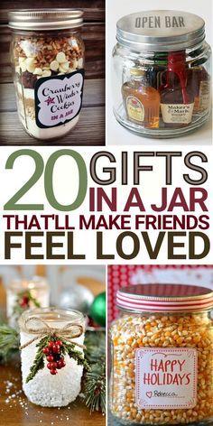 Mason Jar Meals, Mason Jar Gifts, Meals In A Jar, Mason Jar Diy, Diy Gifts In A Jar, Diy Jars, Homemade Christmas Gifts, Homemade Gifts, Christmas Presents