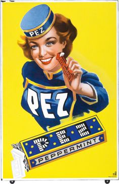 PEZ -  Austrian mints of pressed sugar and peppermint oil since 1927