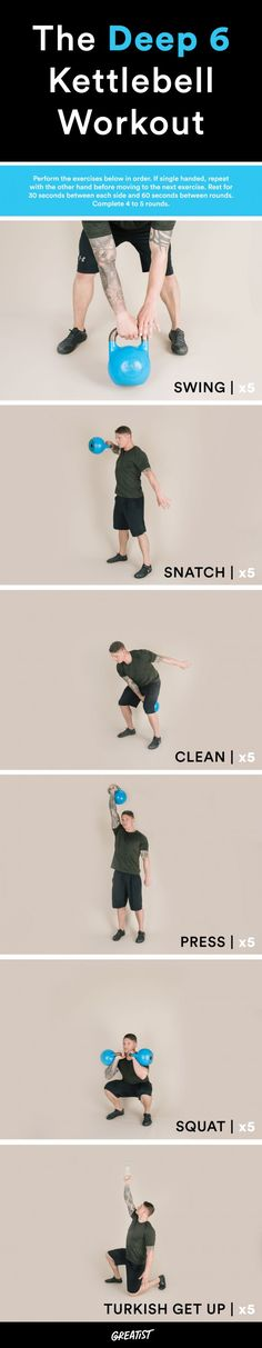 14 cardio exercises that you can do with a kettlebell that are not just swings - Fitness Training Guide Cardio Training, Kettlebell Training, Kettlebell Swings, Weight Training, Weight Lifting, Weight Loss, Kettlebell Routines, Kettlebell Weights, Workout Kettlebell