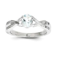 Metal Material:14k White Gold (solid) Average Weight: 3.81gm Width:2 mm Band Open Back Plating:Rhodium Stone Type:Aquamarine Stone Creation Method:Natural Stone...