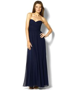 Lauren by Ralph Lauren Dress, Strapless Evening Gown - Womens Dresses - Macy's With added lace cap sleeves and a jacket