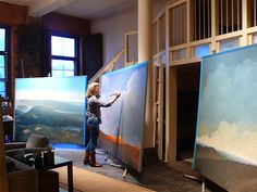 Tula Telfair at work in her studio -- Lyme Academy College of Fine Arts