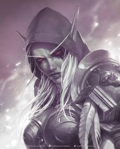 World Of Warcraft - Sylvanas Windrunner World Of Warcraft Game, World Of Warcraft Characters, Warcraft Art, Fantasy Characters, Fantasy Women, Fantasy Girl, Dark Fantasy, Final Fantasy, Banshee Queen