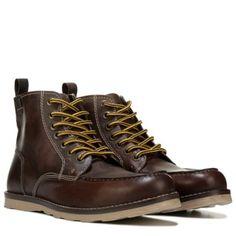 Crevo Men's Buck Memory Foam Lace Up Boot at Famous Footwear