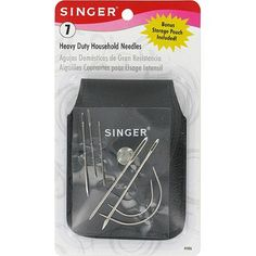 """CAMP & TRAIL REPAIR KIT - Singer Heavy Duty Household Needles with Storage Pouch, 7-Pack (4""""x 7"""") - All the necessary household needles come in this one convenient set. With 7 needles, this pack includes the implements you need for carpets, canvas, coats, tents, upholstery, leather, mattresses and furs. Imported. -  Walmart ±$3.00"""