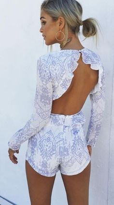 #summer #boho #chic #style | Frill Playsuit