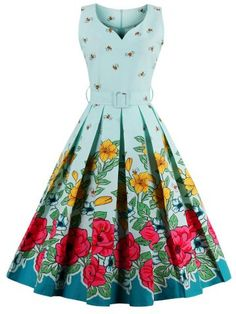 GET $50 NOW | Join RoseGal: Get YOUR $50 NOW!http://www.rosegal.com/vintage-dresses/midi-floral-print-pin-up-1005019.html?seid=7875698rg1005019